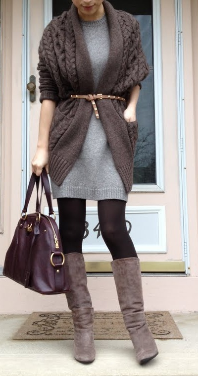 13ff823503 Welcome to FABBYLIFE  Brown sweater dress