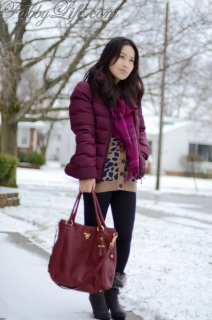 d4784fc6cdd8 All about burgundy  Moncler Pensee Jacket